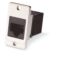 CAT6 Panel-Mount Feed-Through Coupler